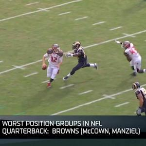 Worst position groups in the NFL