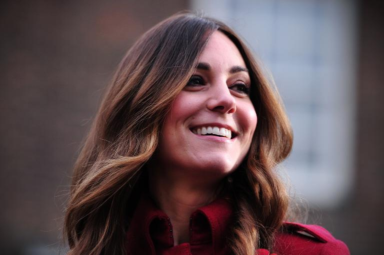 Britain's Catherine, Duchess of Cambridge, prepares to meet staff and volunteers from the Royal British LegionÂ's London Poppy Day Appeal at Kensington Palace in central London on November 7, 2013