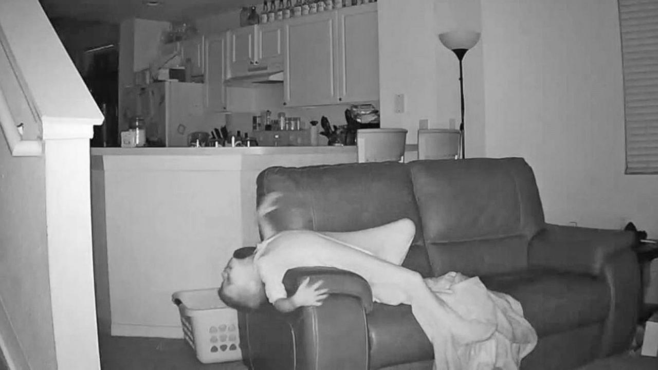 Home Surveillance Video Captures Boy's Overnight Fun, Jumping on Couch