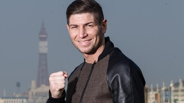 British light middleweight boxer Brian Rose poses in Blackpool (photo: Mark Robinson)