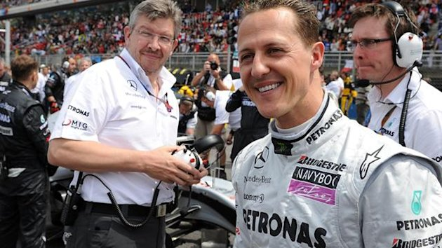 2010 Formula 1 Mercedes GP Ross Brawn Michael Schumacher