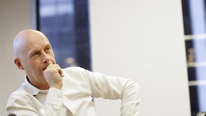 CEO of Dow Jones, Lex Fenwick speaks during an interview in his New York offices