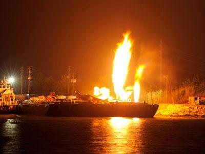 USCG: Spark From Cleaning Caused Explosion