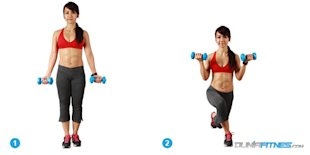 Crossover-Lunge-with-Dumbbell-Curl