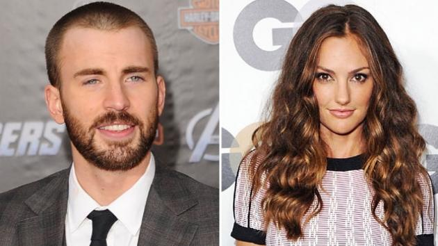 Chris Evans / Minka Kelly -- Getty Premium
