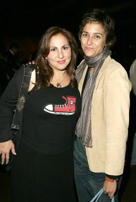 Premiere: Kathy Najimy and Alexandra Hedison at the Los Angeles special screening of ThinkFilm's Going Upriver: The Long War of John Kerry - 10/13/04