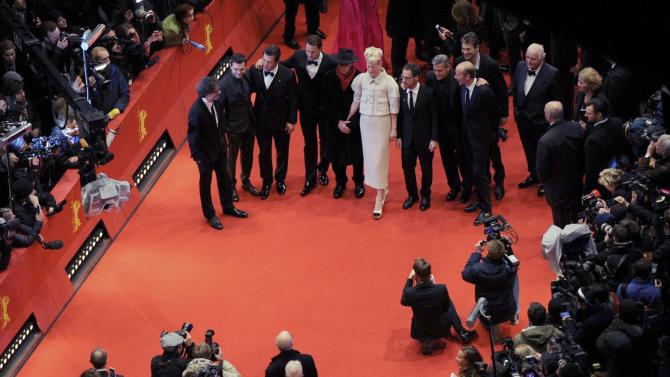 Cast members and directors arrive for opening gala of 66th Berlinale International Film Festival in Berlin