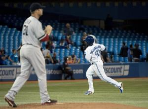 Encarnacion homers twice as Blue Jays beat Red Sox