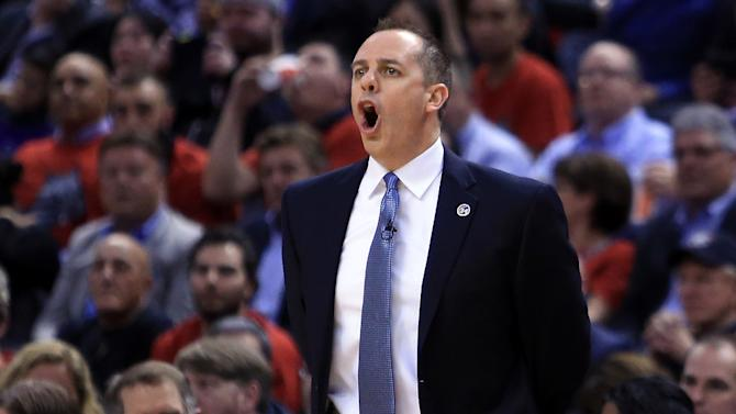 Indiana Pacers part company with Frank Vogel, pictured April 25, 2016, after five seasons with the franchise