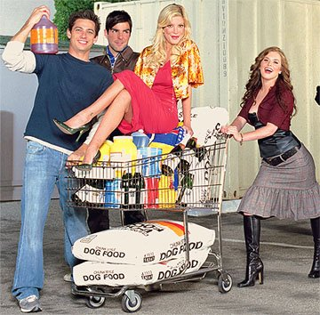 James Carpinello, Zachary Quinto, Tori Spelling, Brennan Hesser