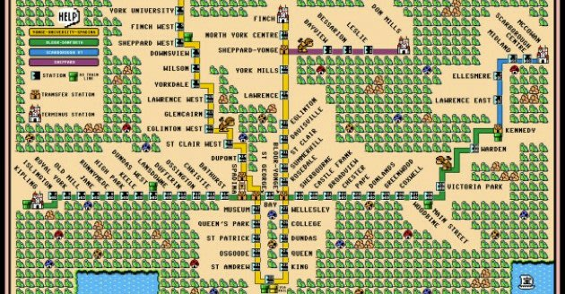 Canada Subway Maps Turned Into Nintendo Works Of Art