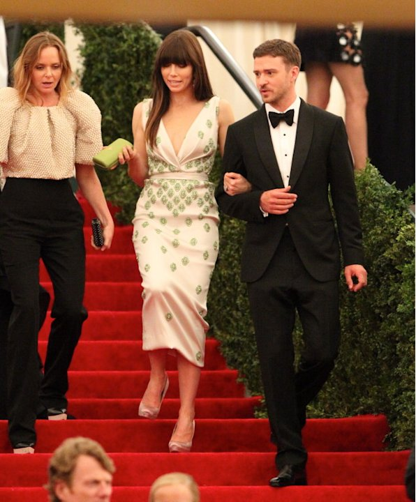 Jessica Biel and Justin Timberlake at the Costume Institute Gala
