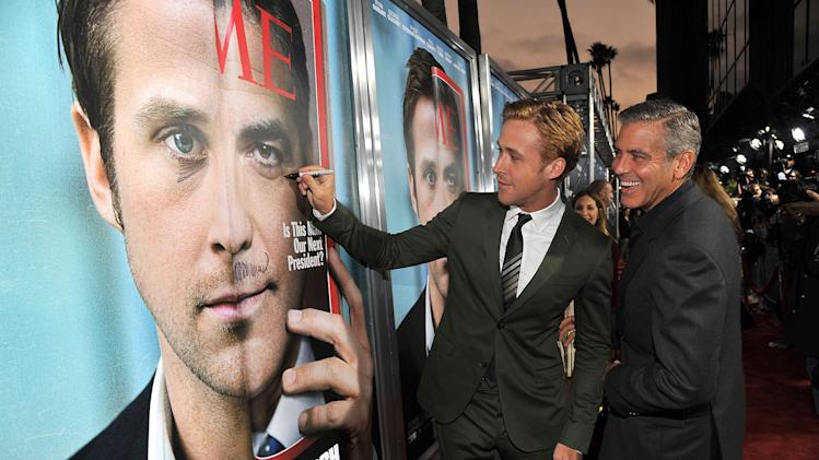 Ides of March LA Premiere 2011 Ryan Gosling George Clooney