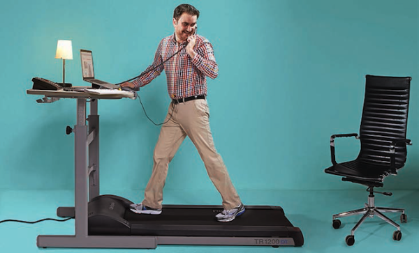 (Photograph by Hamin Lee; Treadmill desk provided by ABCO Group)