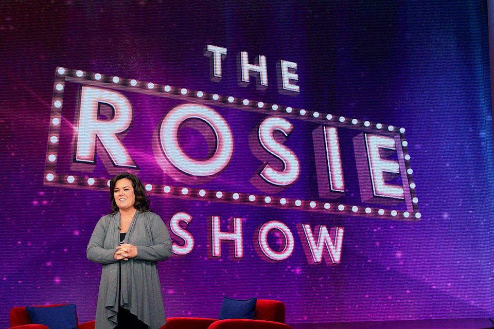 "Rosie O'Donnell on the set of her new OWN talk show ""The Rosie Show."""