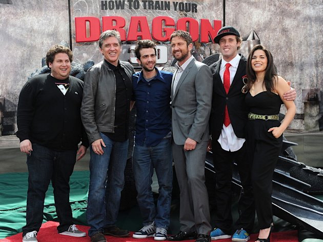 How to Train Your Dragon LA Premiere 2010 Jonah Hill Craig Ferguson Jay Baruchel Gerard Butler TJ Miller America Ferrera