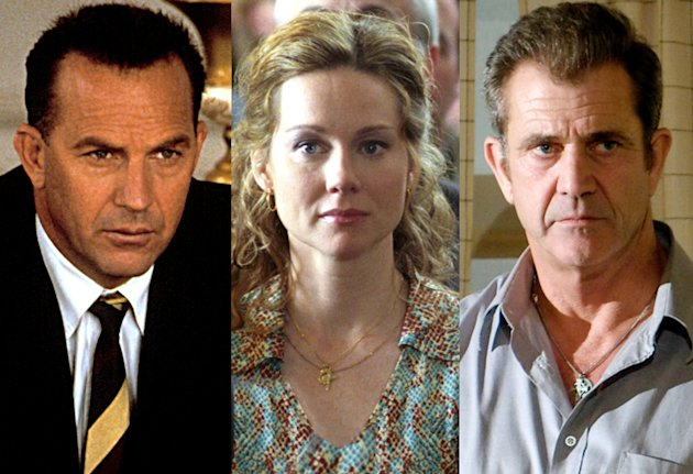 Kevin Costner in 'Thirteen Days', Laura Linney in 'Mystic River', Mel Gibson in 'Edge of Darkness'