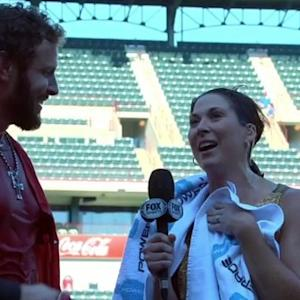 Reporter Gets Drenched in Powerade Meant for Texas Rangers Josh Hamilton