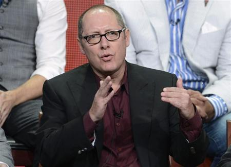 "Cast member James Spader participates in a panel for ""The Blacklist"" during the NBC sessions at the Television Critics Association summer press tour in Beverly Hills, California"