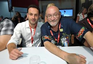 "Andrew Lincoln and writer/director/producer Frank Darabont attend AMC's ""The Walking Dead"" panel at Comic-Con in San Diego on July 22, 2011  -- Getty Premium"