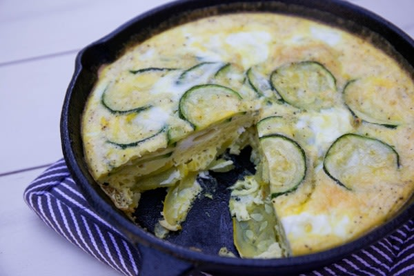One pot dinners squash frittata