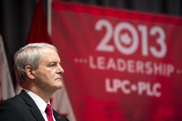 Federal Liberal Party leadership candidate Marc Garneau listens during a leadership candidates debate in Halifax