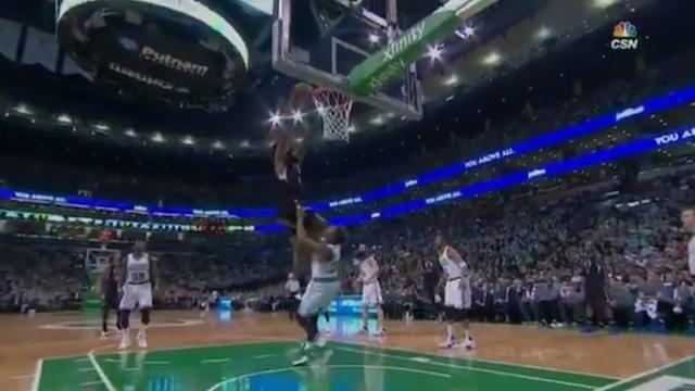 Of Course Marcus Smart Failed To Draw A Charge On This And-1 Alley-Oop By DeAndre Jordan
