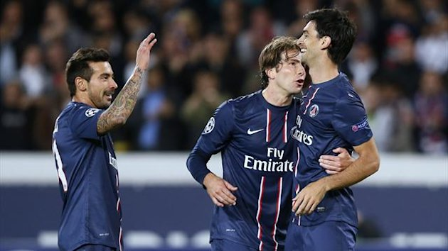 Champions League 2012/2013 PSG Maxwell Lavezzi Pastore