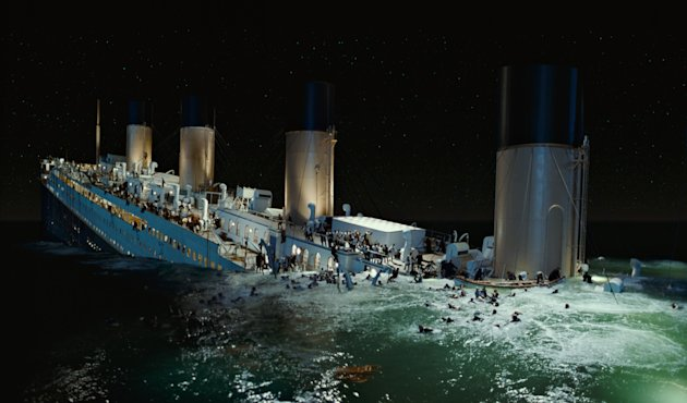 "In this film image released by Paramount Pictures, a scene is shown from 3-D version of James Cameron's romantic epic ""Titanic."" Digital Domain Media Group Inc., best known for its work on Cameron's ""Titanic,"" filed in the U.S. Bankruptcy Court for the District of Delaware, along with a Canadian court, Tuesday, Sept. 11, 2012. ital production company founded by director James Cameron said Tuesday that it filed for Chapter 11 bankruptcy protection and reached a deal to sell its operating business to a private investment firm for $15 million. (AP Photo/Paramount Pictures)"