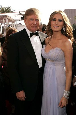 Donald Trump and Melania Knauss Emmy Awards Arrivals - 9/18/2005 Donald Trump