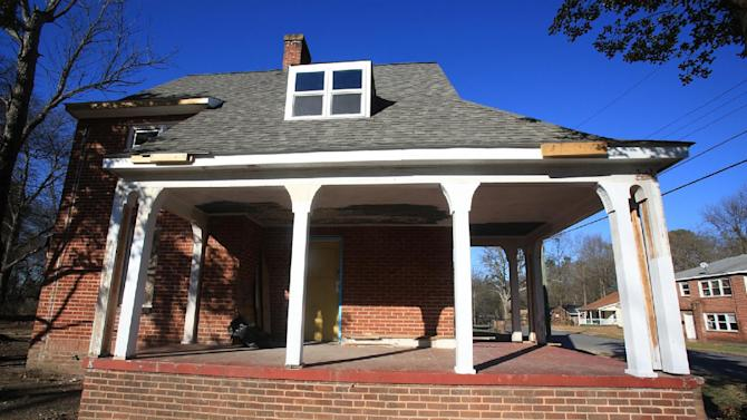 This Jan. 7, 2013 photo shows the former home of Lillian Mullinax in Shelby, N.C. Jury selection in the trial of Donald Borders, 53, of Cherryville, N.C., on charges of rape and murder, is slated to begin Monday, Jan. 14, 2013. The looming legal proceeding has reopened old wounds for survivors of three women killed in 2003, including Mullinax, and other residents of this tightknit city of 20,000 about 50 miles west of Charlotte. And it has raised questions about whether any of the cases will ever truly be resolved. (AP Photo/The Shelby Star, Ben Earp)