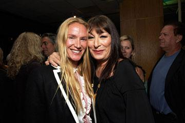 Kelly Lynch and Anjelica Huston at the Los Angeles premiere of Fox Searchlight's The Darjeeling Limited