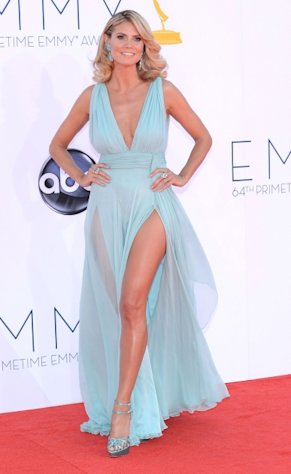 Heidi Klum shows some leg at the 64th Annual Primetime Emmy Awards at Nokia Theatre L.A. Live in Los Angeles on September 23, 2012  -- Getty Images