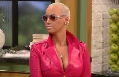 Amber Rose stops by Access Hollywood Live on January 17, 2012 -- Access Hollywood