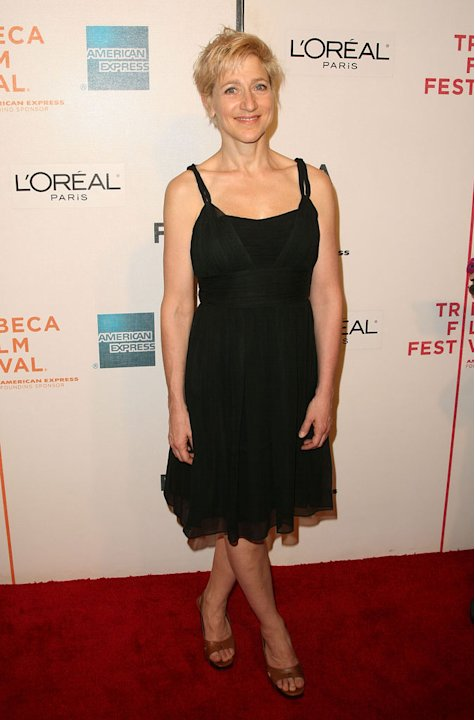 "Edie Falco attends the premiere for ""Serious Moonlight"" during the 2009 Tribeca Film Festival at BMCC Tribeca PAC on April 25, 2009 in New York City."