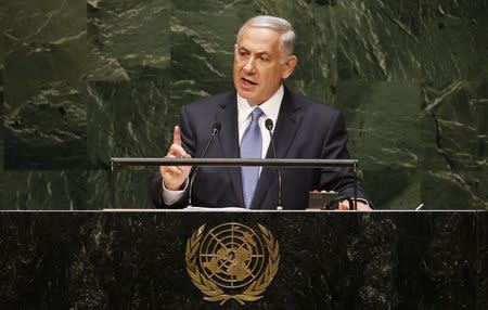 Israel's PM Netanyahu addresses the 69th United Nations General Assembly in New York