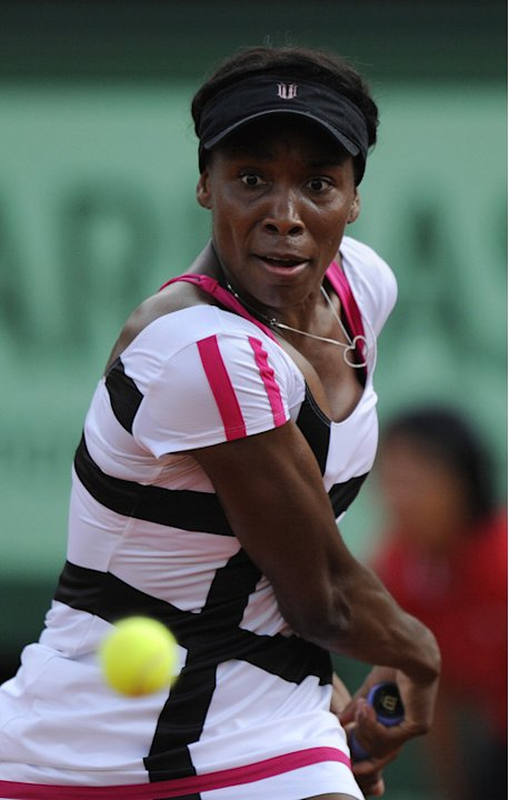 US Venus Williams Hits AFP/Getty Images
