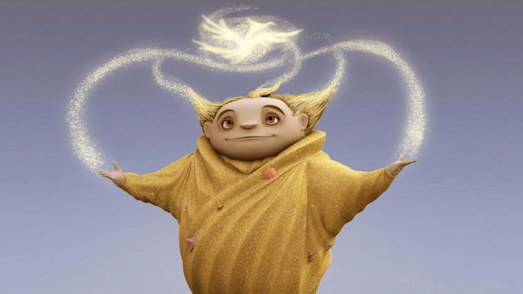 "This undated publicity photo provided by Paramount Pictures, shows visual development art of Sandman for DreamWorks Animation's ""Rise of the Guardians."" The film, releasing by Paramount Pictures, is set to debut nationwide Nov. 21, 2012. (AP Photo/Paramount Pictures, Courtesy DreamWorks Animation)"