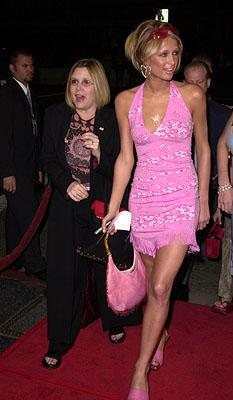 Carrie Fisher and Paris Hilton at the Hollywood premiere of MGM's Heartbreakers