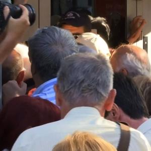 Raw: Long Lines as Greece Reopens Banks