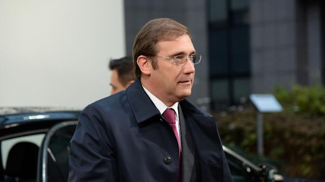 Portuguese Prime Minister Pedro Passos Coelho in Brussels on December 18, 2014