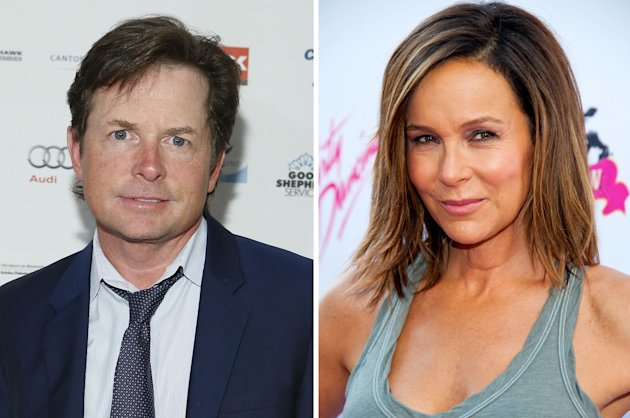 Michael J. Fox and Jeniffer Grey