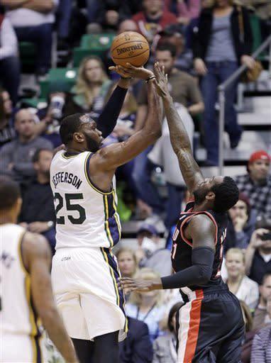 Jefferson, Williams lift Jazz over Blazers 112-102
