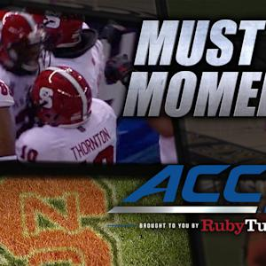 NC State Trickery on Shadrach Thornton TD Pass | ACC Must See Moment