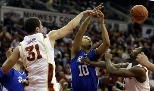 Ejim lifts Iowa State past Drake 86-77
