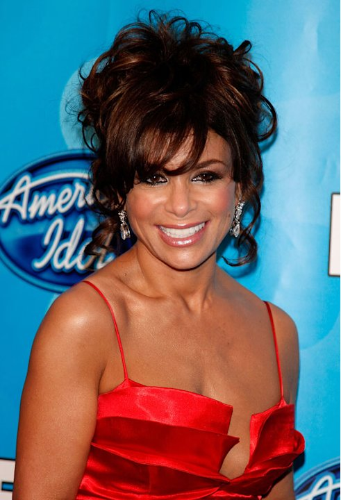 Paula Abdul poses in the press room during the American Idol Season 7 Grand Finale held at the Nokia Theatre on May 21, 2008 in Los Angeles, California.