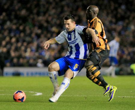 Soccer - FA Cup - Fifth Round - Brighton and Hove Albion v Hull City - The AMEX Stadium
