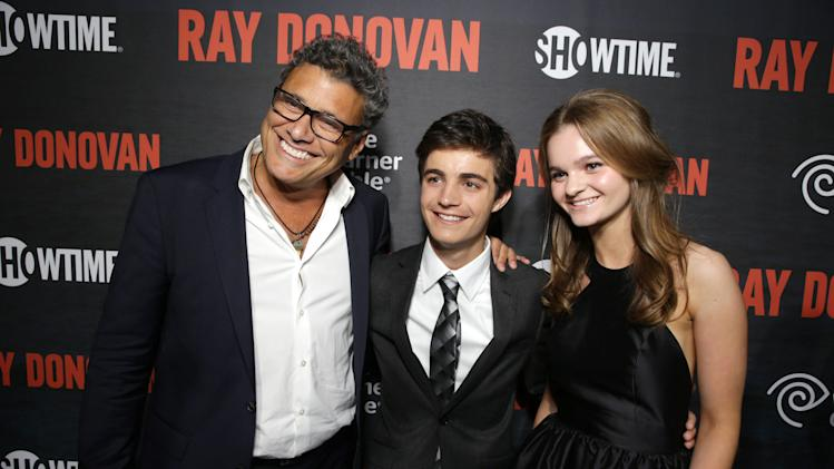 Steven Bauer, Devon Bagby and Kerris Dorsey pictured at SHOWTIME and Time Warner Cable's Ray Donovan Season 2 premiere on Wednesday, July 9 at Nobu in Malibu, Calif. (Photo by Eric Charbonneau/Invision for Showtime/AP Images)