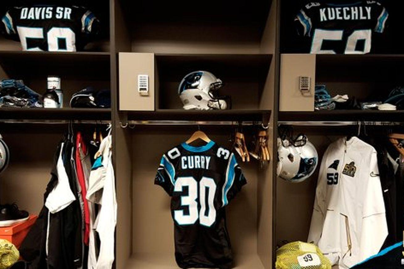 Stephen Curry was the Panthers official 'Keep Pounding' drummer for the Super Bowl