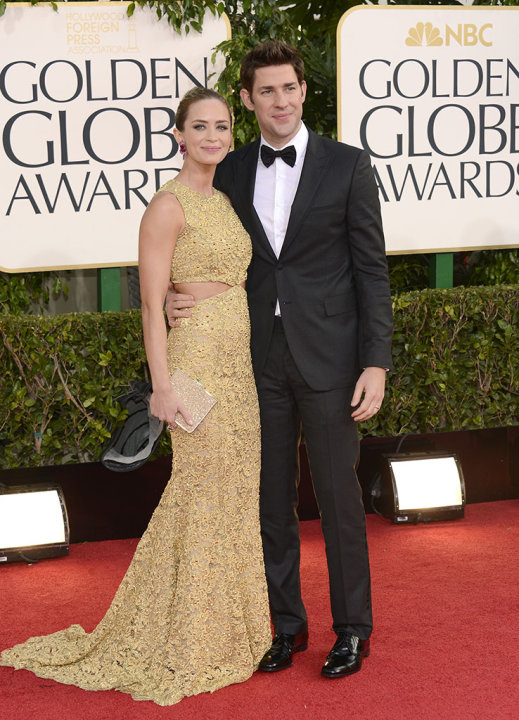"NBC's ""70th Annual Golden Globe Awards"" - Arrivals: Emily Blunt and John Krasinski"